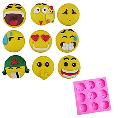 JLHua Silicone Funny Emoji Chocolate Candy Making Mold Ice Cube Tray