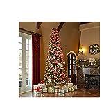 12-Ft-Tall-Artificial-Slim-Christmas-Tree-W1100-Lights-Stunning