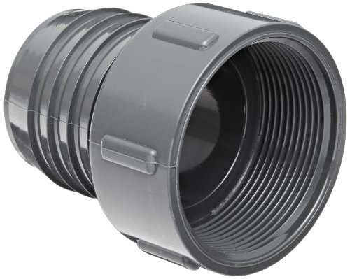 """Spears 1435 Series Pvc Tube Fitting, Adapter, Schedule 40, Gray, 1-1/4"""" Barbed X Npt Female"""
