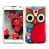 Hard case Owl design for LG Optimus L7 II P710 in Red Brown etc. - from kwmobile