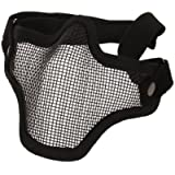 Carbon Steel Strike Style Airsoft Mesh Mask Half Face with Adjustable and Elastic Belt Strap