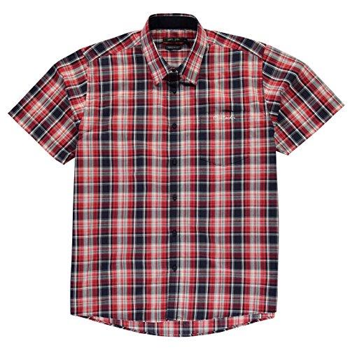 Pierre Cardin -  T-shirt - Uomo Red/Navy Chk 6 XL