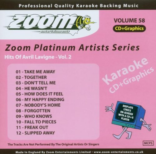 Zoom Karaoke CD+G - Platinum Artists 58: Avril Lavigne 2