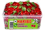 HARIBO HAPPY CHERRIES - CHERRY FLAVOURED SWEETS - FULL TUB
