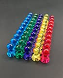 SIFAN Colour Magnetic Map Pins,50PCS Acrylic Map Pins, Apply to Office, Map and Whiteboard (Small Size-11mm * 17mm)
