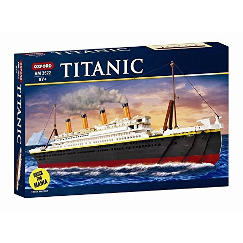 Oxford 907 Piece RMS Titanic Building Block Kit Special Edition