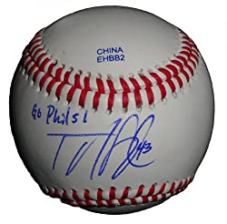 "Philadelphia Phillies Tyler Cloyd Autographed ROLB Baseball Featuring ""Go Phils!"" Inscription! Proof Photo"