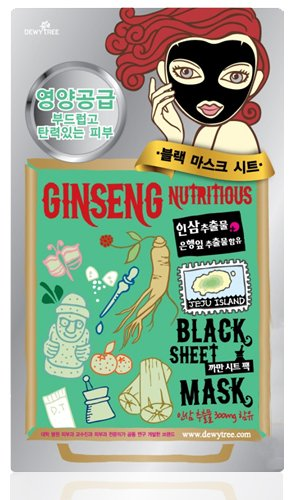 GINSENG NUTRITIOUS BLACK SHEET MASK 5枚セット