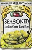 Margaret Holmes Seasoned Medium Green Lima Beans, 15 Ounce (Pack of 12)