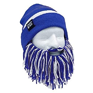 NFL Indianapolis Colts Beanie Short Beard, Blue White by Beard Head