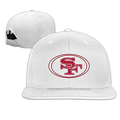 San Francisco 49ers Logo Solid Color Simple Unisex Flat Billed Trucker Cap
