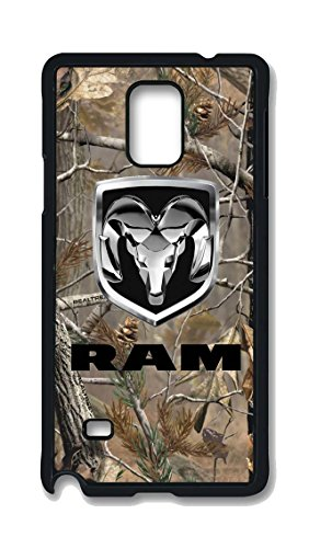 Samsung Galaxy Note 4 Case, Dodge Ram Car Logo Drop Protection Never Fade Anti Slip Scratchproof Black Hard Plastic 3D Case (Galaxy Note 3 Dodge Case compare prices)
