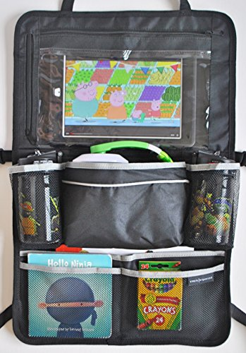 SimplyOrganized Universal Backseat Car Organizer with Tablet Holder and Seat Back Protector (Car Organizer With Ipad Holder compare prices)