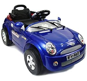 Mini Cooper-Style Electric Ride On Car for Kids with R/C Remote Controller (BLUE, RED OR YELLOW SENT AT RANDOM)