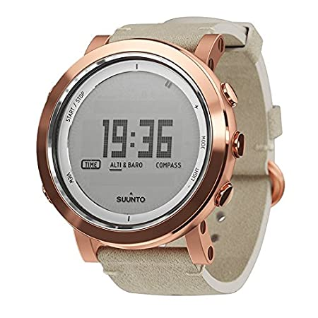 Watch Suunto Essential Ceramic COPPER - Leather Strap, Sapphire Glass, Altimeter Barometer Compass
