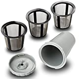 Xcellent Global Reusable Coffee Filter Set for Keurig, My K-cup style, Filter Housing + 3 extra filters, Fits B30 B40 B50 B60 B70 Series, Gray M-HG068