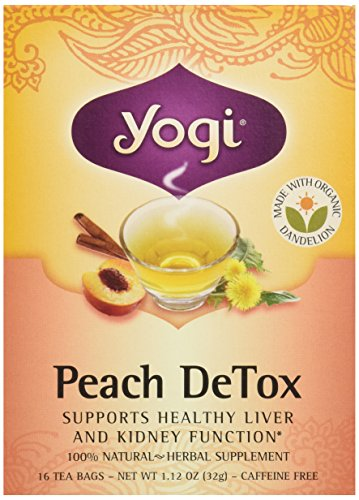Yogi Organic Peach Detox Tea, 16 ct