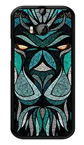 """Humor Gang Abstract Lion Printed Designer Mobile Back Cover For """"HTC ONE M8 - HTC ONE M8S"""" (3D, Glossy, Premium Quality Snap On Case)"""
