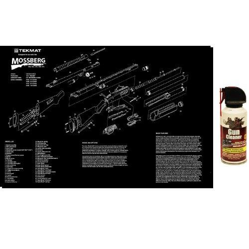 "Ultimate Arms Gear Mossberg 500 - 505 - 535 - 590 - 835 Gunsmith & Armorer's Large Exploded Poster 24 "" x 36 "" Cleaning Work Tool Bench Gun Wall Decoration + Pro Gun Cleaner Lubricant Protector Preservative Jet Action Spray Safe Aerosol Travel Range Field Can Bottle Cleans Loose Dirt, Rust & Corrosion that Damages Metal Parts for Cleaning Firearms Pistols, Revolvers, Rifles, Shotguns & Auto Weapons"