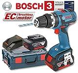Bosch GSB18VEC Cordless 18V Brushless Combi Drill in L-Boxx (2 x 4.0Ah Li-ion)