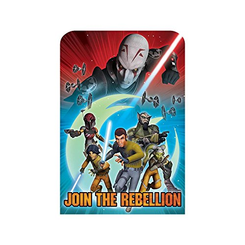Amscan Exciting Star Wars Rebels Party Postcard Invitations Cards (8 Piece), Red/Blue, 6 1/4 x 4 1/4""