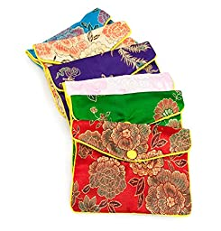 Fancy Pouch Medium Oriental Style (12-Pcs)