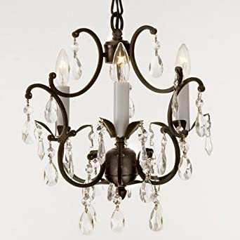 Amazon.com: Wrought Iron Crystal Chandelier Lighting Country
