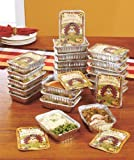 Set of 24 Thanksgiving Leftover Containers Holiday Leftovers in Style!