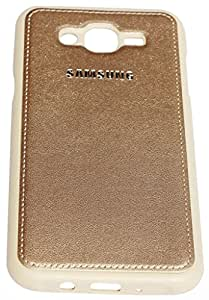 SmartLike Leather Back Cover for Samsung Galaxy A8 Gold