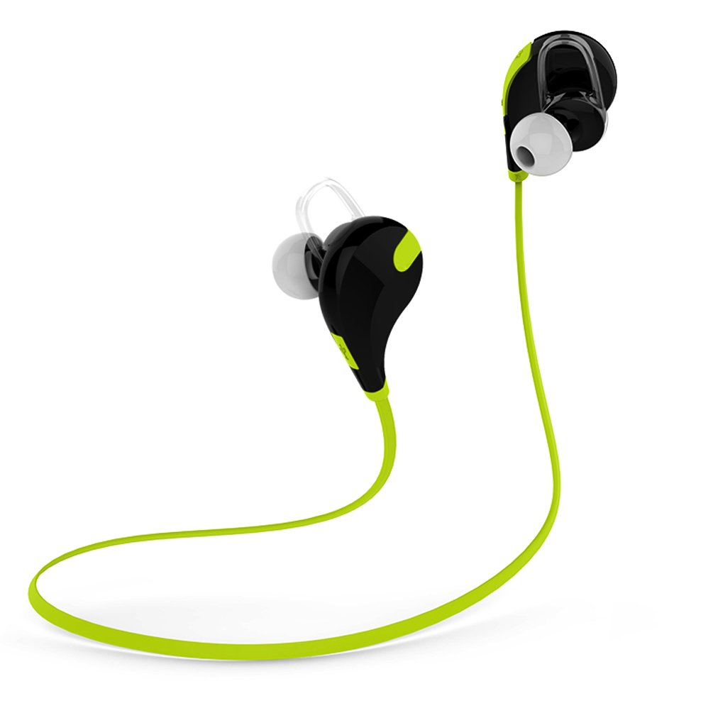Bluetooth Headphones SUFUM Noise Cancelling Wireless Earphones Bluetooth 4.1 Connect with iphone Sumsang Android Smartphones for Running,Jogging,Gym Outdoor Sports (Green)