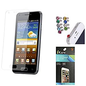 iKare Ultra Clear Pack of 5 Anti-Glare Anti-Scratch Anti-Fingerprint Screen Protector for Motorola Moto E 2nd Gen + 3.5mm Jewel Dust Jack