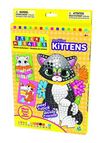 The Orb Factory Sticky Mosaics Sparkling Kittens Kit