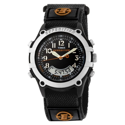 Timex Men's T49741 Expedition Analog-Digital Black Fast Wrap Velcro Strap Watch (Timex Digital Analog compare prices)
