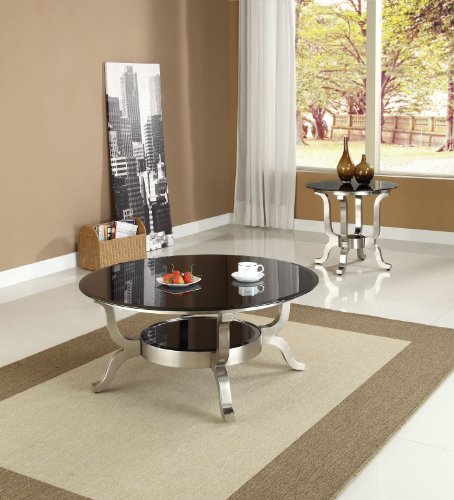 Acme 80005 Rosa Glass Top Coffee Table, Chrome Finish (B0082A1C7K)