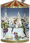 Nostalgische Weihnachtsdose mit Spiel...