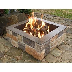 Firescapes smooth ledge square propane fire for Amazon prime fire pit