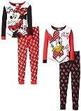 Disney Girl's Minnie and Daisy 4-Piece Pajama Set
