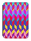 Disguised® 'Retro Shapes' Kindle Paperwhite PU Leather Flip Case Cover Designed by Amanda Isobel