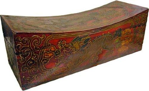 20″ Tibetan Dragon Treasure Box with Curved Top