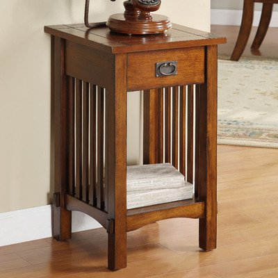 Valencia Mission Style End Table front-259495