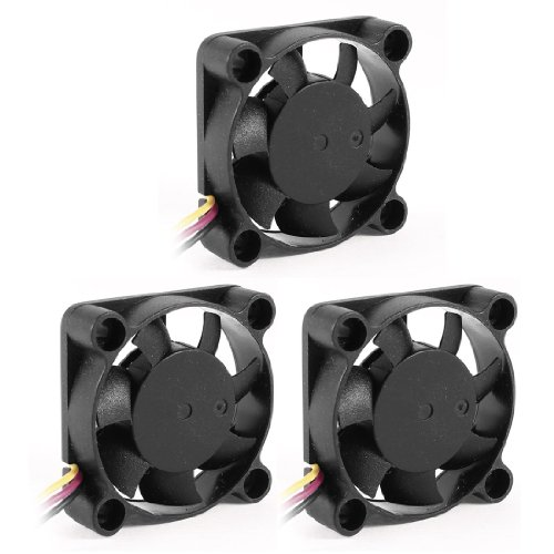 3 Pcs 40mmx10mm 3P 7 Blades Computer Chipset Cooling Fan DC 12V