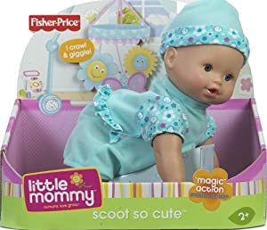 51PekGNzDtL. SX300  Cheap Buy  Little Mommy Real Loving Baby Scoot So Cute Doll   Blue
