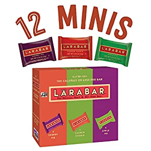 Larabar Minis Gluten Free Snack Bar Variety Pack, Cherry Pie/Apple Pie/Cashew Cookie, .78 oz. Bars, 12 Count
