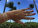 Dizao Gold Tattoo. Princess. Flash Jewels. Metallic Temporary Gold Silver Tattoos. Flash Tattoos