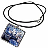 3dRose Danita Delimont - Pottery - Europe, Portugal, Oporto, Portuguese ceramics for sale - Necklace With Rectangle Pendant (ncl_227839_1)