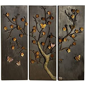 brilliant wall art metal wall art butterfly tree panels kitchen home. Black Bedroom Furniture Sets. Home Design Ideas