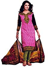 Saad Creations Women's Cotton Unstitched Dress Material_BLR1305_Multicolored_Freesize