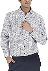 Silkina Men's Regular Fit Shirt (VPOI1407FWH, 38)