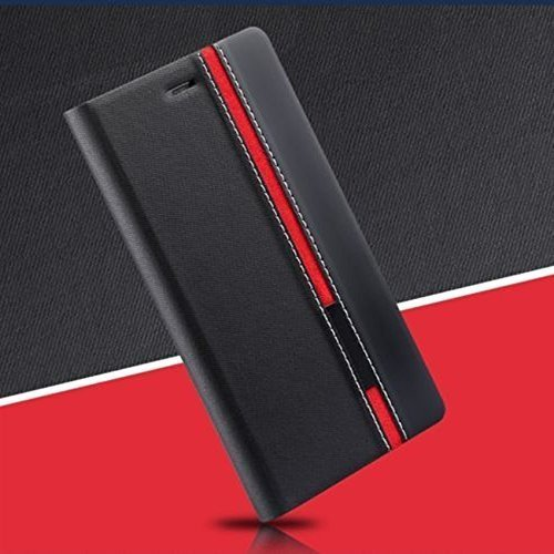 Febelo Branded Customised New Design Video Stand View Perfect Fitting Flip Cover Case for Xiaomi Redmi Note 4G / Xiaomi Redmi Note Prime - Black Color