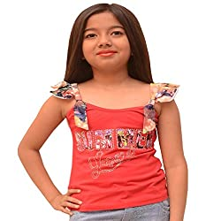 Titrit Red strapy top for girls